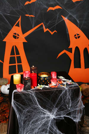 witchery: Halloween scenery on black background