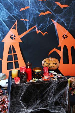 witchery: Halloween scenery on black background