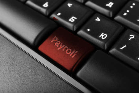 Close up of Payroll keyboard button
