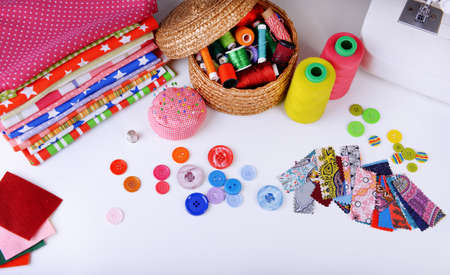 sewing item: Fashion design, close-up. Sewing items