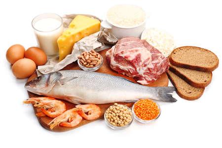 leche y derivados: Alimentos ricos en proteínas aisladas en blanco