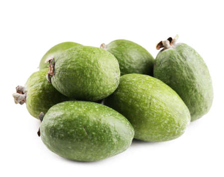 feijoa: Feijoa isolated on white