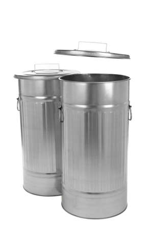 bins: Recycling bins isolated on white Stock Photo