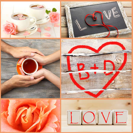 Valentines Day photo collage photo