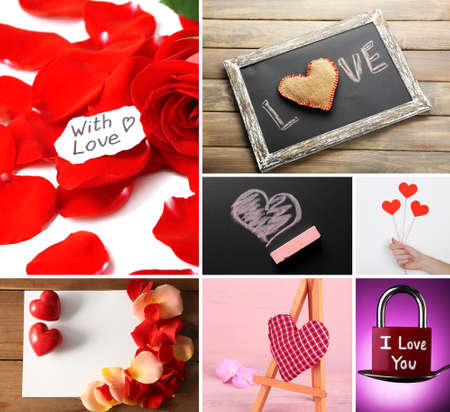 Valentines Day photo collage photo