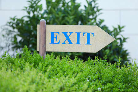 way out: Exit sign at park
