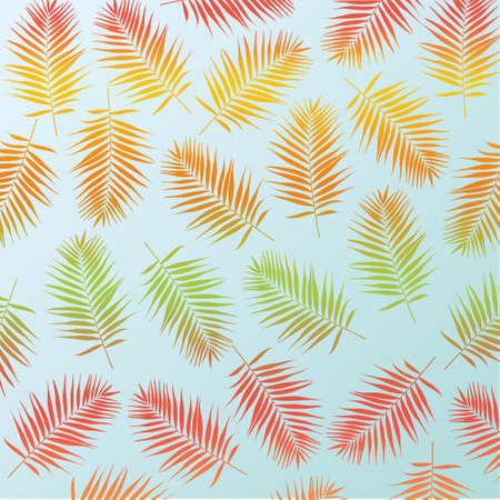 rabbet: Multicolor palm leaves as background Stock Photo