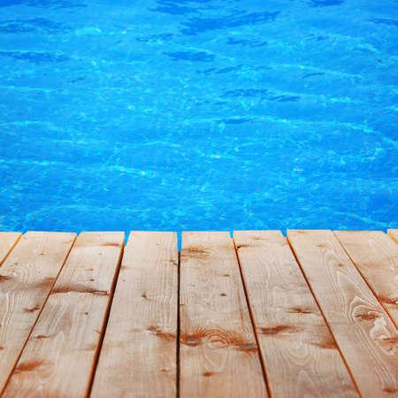 プールサイドの背景 写真素材