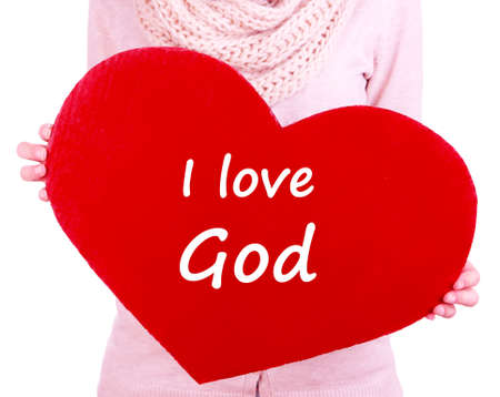 hard love: Holding hard with I love God text on it
