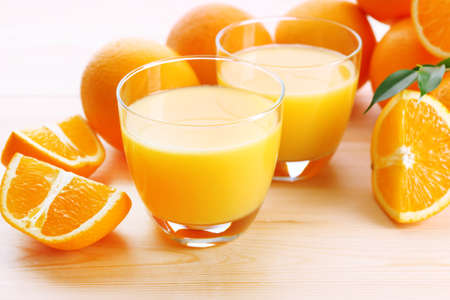 Freshly squeezed orange juice, close-up