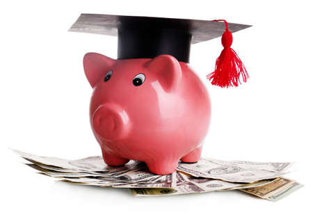 costs: Education costs concept Stock Photo