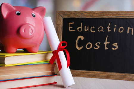 expenses: Education costs concept Stock Photo