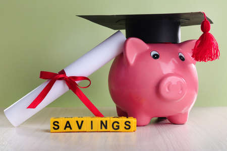 college fund savings: Education costs concept Stock Photo