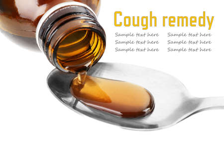 Cough syrup, close-up photo