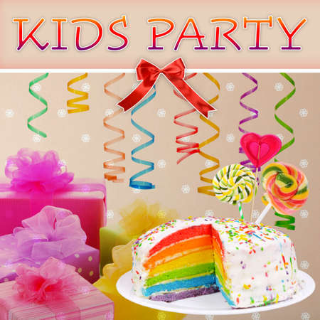lolli: Colorful Kids Party poster Stock Photo