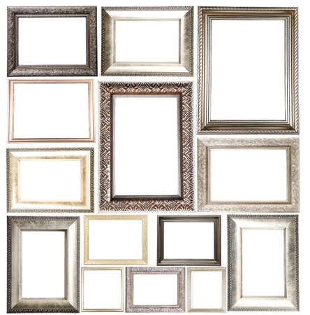 wall art: Collage of frames isolated on white