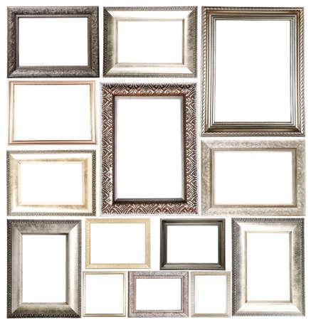 Collage van frames op witte Stockfoto