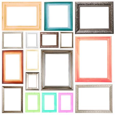 marcos cuadros: Colección de cuadros aislados en blanco