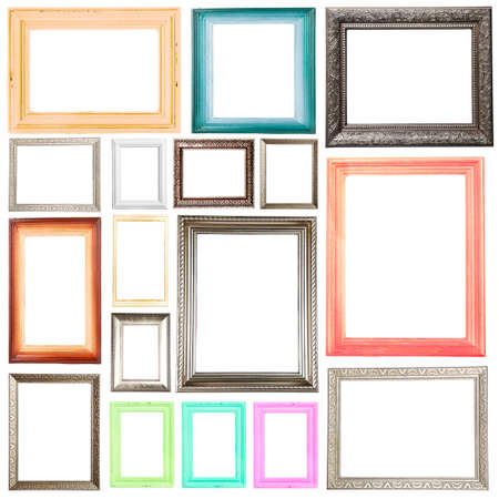 group picture: Collection of frames isolated on white