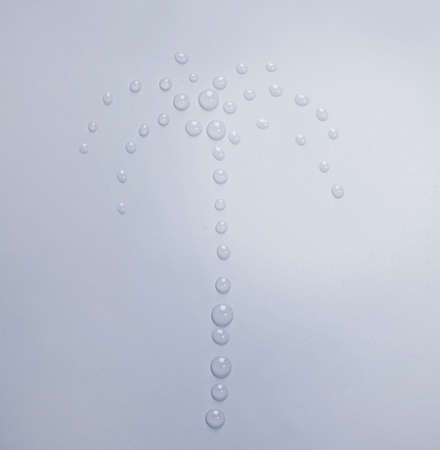 Picture from water drops close-up photo