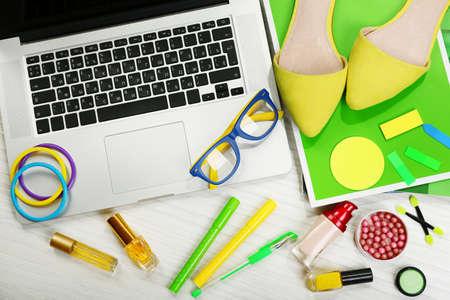 Fashion blogger concept. fashion creative space