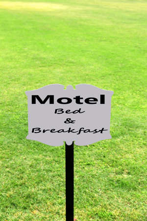 Signboard with text Motel, Bed and Breakfast photo