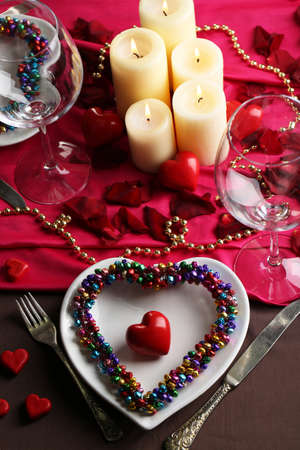 amorousness: Table setting of Valentines Day