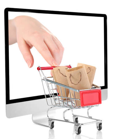 electronic commerce: Online shopping concept