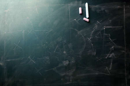 erased: Scheme football game erased from blackboard background Stock Photo
