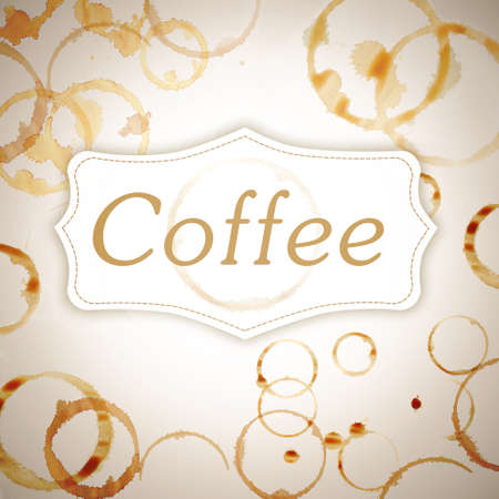 coffee stains: Space for text on coffee stains background Stock Photo