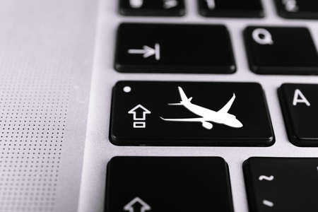 Flight Booking Keyboard Plane Travel Fly Check Buy Website E Ticket