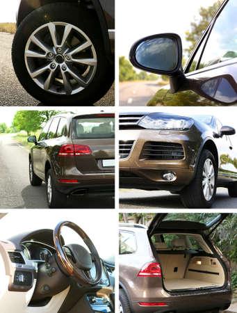 Modern car collage photo