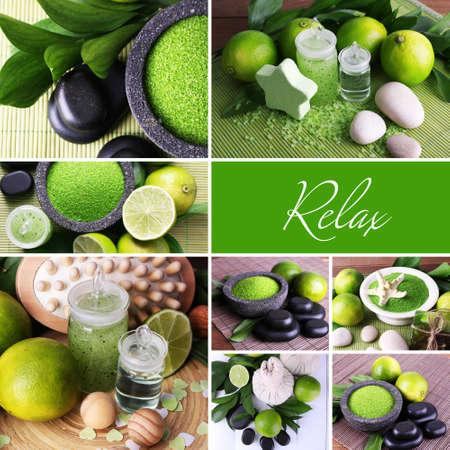 compositions: Composizioni spa verdi in collage