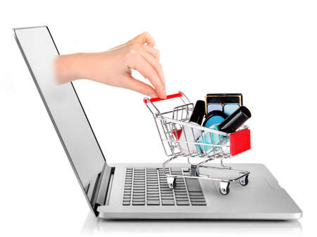 online transaction: Online shopping concept