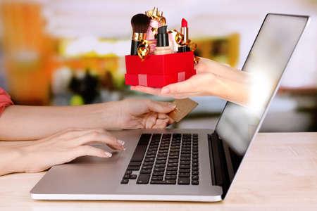 vendedores: Concepto de compras en línea