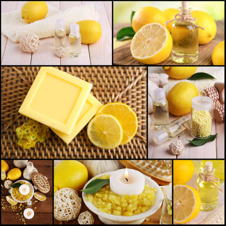 compositions: Lemon spa compositions in collage