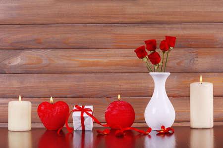 involving: Candele accese per San Valentino, matrimoni, eventi che coinvolgono l'amore Archivio Fotografico