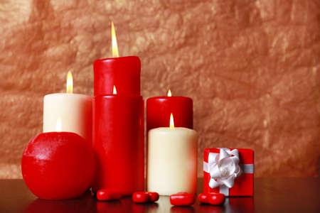 involving: Burning candles for Valentine Day, weddings,events involving love. Archivio Fotografico