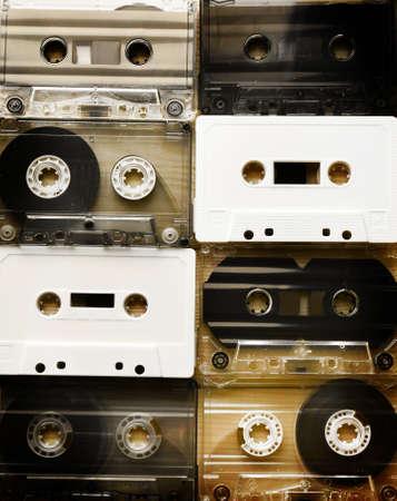 cassettes: Set of audio cassettes Stock Photo