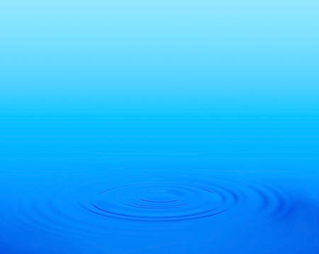 cold background: Water drop, close-up Stock Photo