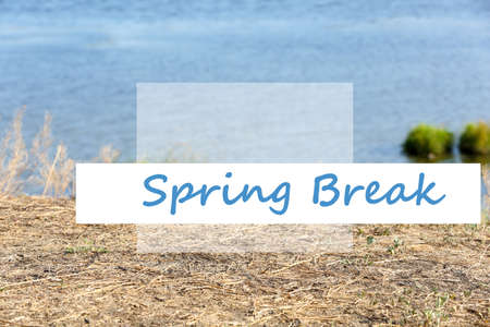 escapement: Spring break concept. Beautiful lake