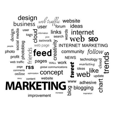 linkage: Word cloud. Marketing concept