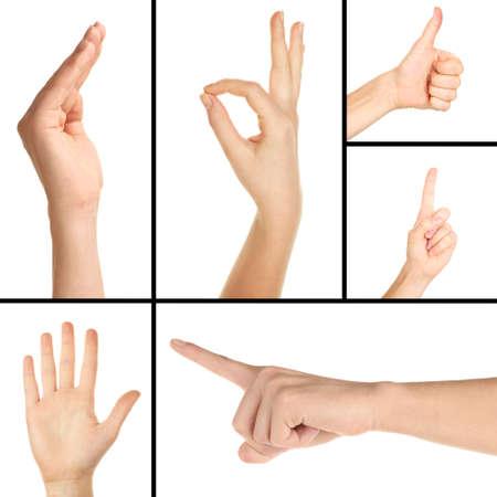 gestos: Collage de gestos con las manos