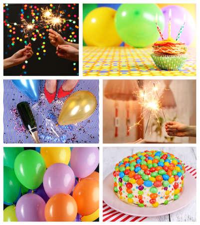 Happy birthday collage photo