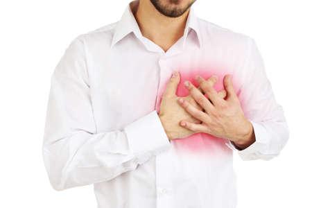 heartattack: Man having chest pain - heart attack