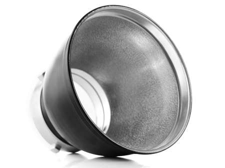reflector: Reflector isolated on white Stock Photo