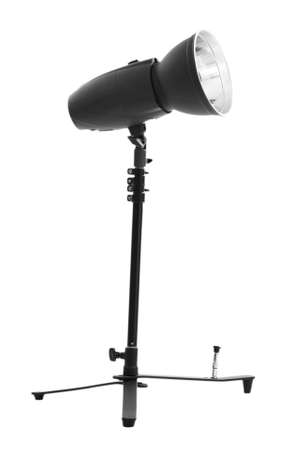 reflector: Camera lightning with reflector isolated on white