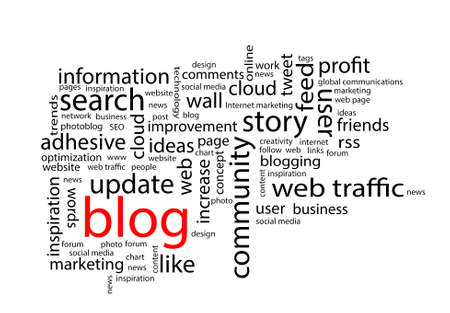 linkage: Word cloud. Blog concept Stock Photo