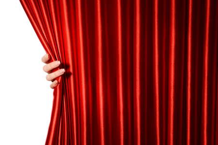 cortinas rojas: Cortina roja de cerca