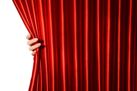 red curtains: Red Curtain close-up